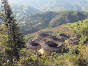 The local Tulou houses of Fujian province.