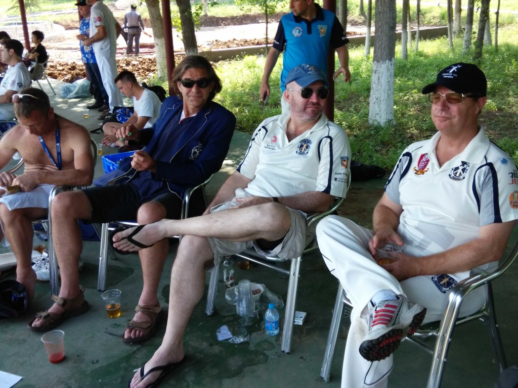 Spectators in the Bashers Pavillion