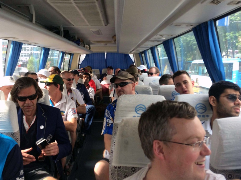 The bus ride to the new Rural Stadium