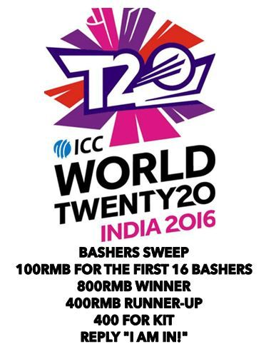 T20 World Cup 2016 Sweep